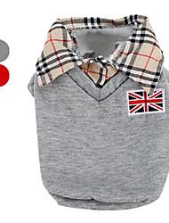 Camisola com Gola de Camisa para Cães (XS-XL, Várias Cores)