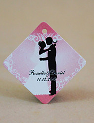 Personalized Rhombus Favor Tag - Wedding Romance (Set of 30)
