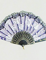 Classic Hand Fan With Rose Patten - Set Of 4 - (More Colors)