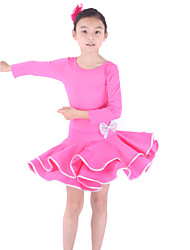 Latin Dance Dresses Children's Training Viscose 3/4 Length Sleeve