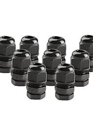 10 штук PG9 черный пластиковый водонепроницаемый разъемы кабельные вводы для поделок