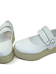 Lolita Shoes Sweet Lolita Lolita Platform Shoes Solid 5 CM White For Women PU Leather/Polyurethane Leather