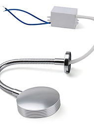 3W 170LM 6500K White LED Flexible Neck Mirror Light Bulb with LED Driver (85~265V)