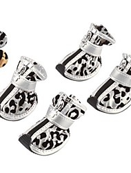 Dog Shoes & Boots Leopard Gold / Silver Spring/Fall PU LeatherDog Shoes