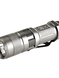 requin ss-8004 3 modes Cree XR-E Q5 LED Flashlight souriant (220lm, 1x16340, argent)