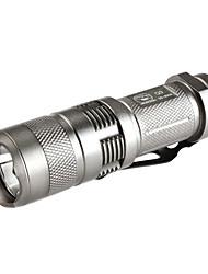 sorrindo tubarão ss-8004 3-mode cree xr-e q5 lanterna LED (220LM, 1x16340, prata)