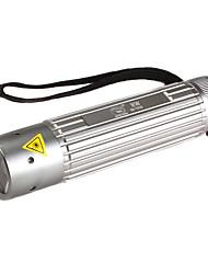 sorrindo tubarão ss-7019 1-mode lanterna LED (3xAAA, prata)