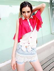 Lady Charming Splice Blouse Shirt