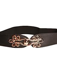 spandex magnifique / coton avec ceinture boucle métallique femmes (plus de couleurs)