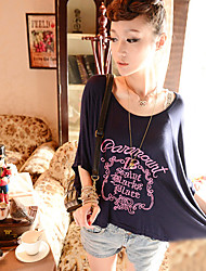 Summer Lady Elegant Bat Sleeve T Shirt
