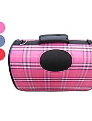 escocés a cuadros portátil de aire libre del perro gato portador de mascotas (37 x 24 x 23cm, colores surtidos)