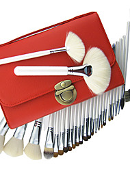 26 pcs profissional mink conjunto de escova da composição