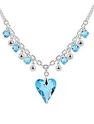 in lega e l'amore di cristallo da collana di progettazione platinato