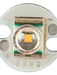 diy cree 3w 90lm 2800-3200K luce bianca calda ha portato emettitore con base in alluminio (3.2-3.6v)