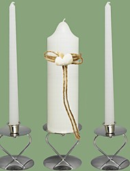 Beach Shell Wedding Unity Candles Set-White (Candle Holders Not Included)
