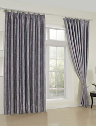 (One Panel)Traditional Jacquard Floral Blackout Curtain