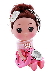 Children's Dolls Style Alloy Analog Quartz Keychain Watch (Rose)