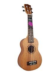 nozes - (nut21) ukulele soprano mogno com bag / picaretas