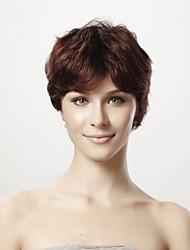 sem tampa 100% cabelo humano peruca peruca de cabelo curto reta 5 cores para escolher