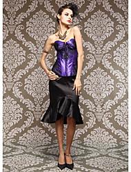 Lace Goegeous / Viscose Com Lace Frente Busk Strapless Encerramento Shapewear Corsets