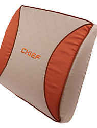 High Quality Car High Resilience Foam Lumbar Cushion,Orange Mood (1 Pair)