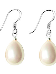 Earring Drop Earrings Jewelry Women Daily Pearl / Sterling Silver Black / White / Pink