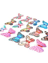 Double Layer Decorative Magnetic Butterfly Fridge Magnet (Random Color)
