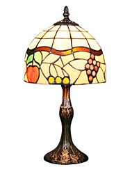 60W Tiffany Table Light with 1 Light in Fruit Pattern