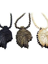 Индейцы эмиратов портреты деревянного ожерелья