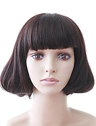 sin tapa peluca bob alta calidad mixta pelo castaño mujeres de pelo