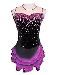 Unregelmäßigen Rand Kuchen Rock Sleeveless Ice Skating Dress