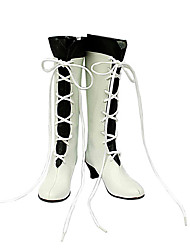 scarpe cosplay ispirati pandora hearts alice White Lace-up