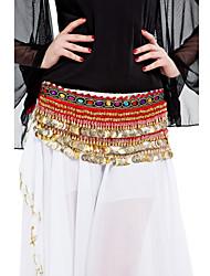 mulheres velet dancewear com 338 moedas de desempenho dança do ventre lenço de quadril mais cores disponíveis
