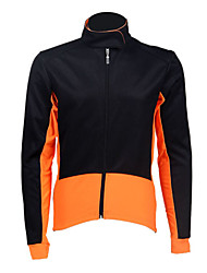 JAGGAD Poliéster 50% e 50% Coolmax mangas compridas Ciclismo Jersey (laranja e preto)