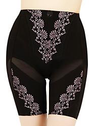 minces de soie de bambou de carbone taille fibres hanches ventre pantalon
