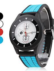 Unisex  Rubber Analog Quartz Wrist Watch (Assorted Colors) Cool Watch Unique Watch Fashion Watch