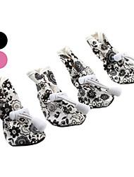 Cães Sapatos e Botas Azul / Rosa Primavera/Outono Pele PUCão Sapatos
