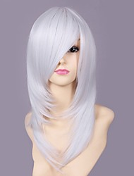 Cosplay Wigs Beyond the Boundary Rai White Medium Anime/ Video Games Cosplay Wigs 50 CM Heat Resistant Fiber Male