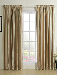 (Two Panels) Classic Stripe Solid Room Darkening Curtain
