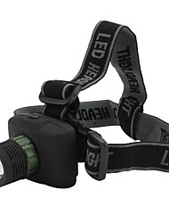LED Flashlights/Torch / Headlamps LED 3 Mode 240 Lumens Tactical / Compact Size / Small Size Cree XR-E Q5 AAA Others , Black Plastic