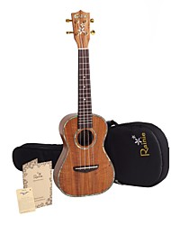Rainie - (C50) di livello professionale solido acacia ukulele concerto koa con gig bag / sintonizzatore (perla vincolante)