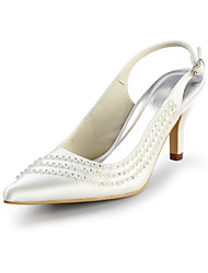Women's Wedding Shoes Peep Toe/Slingback Heels Wedding/Party & Evening Black/Blue/Pink/Purple/Red/Ivory/White/Silver/Gold/Champagne