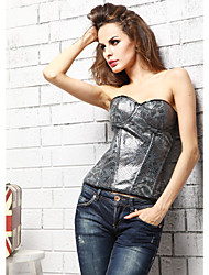 Único Leatherette Strapless Lace-up Shapewear Corsets