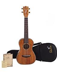 Rainie - (t-50) di livello professionale solido acacia ukulele tenore koa con gig bag / sintonizzatore (perla vincolante)