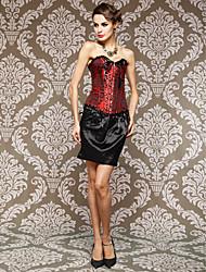 Coton Fabuleux Avec Jacquard Fermeture avant Shapewear bretelles Corsets Busk (plus de couleurs)