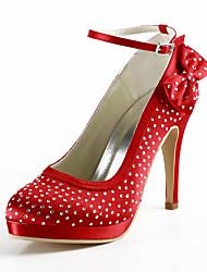 Women's Wedding Shoes Heels/Platform Heels Wedding Black/Blue/Pink/Red/Ivory/White/Silver