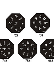 Aloe Pattern Style Nail Art Stamping Image Template Plate
