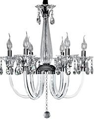 STAVELEY - Lustre Vela Cristal com 6 Lâmpadas