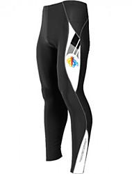 Pantalon de vélo mountainpeak-hommes avec 3d pad (noir)