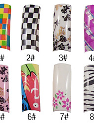 70 Pcs Full Cover Romantic French Acrylic Nails Tips 8 Colors Available
